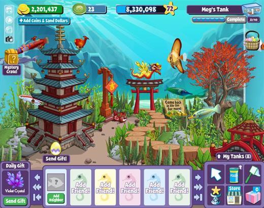 Fishville online games list for Facebook fish game