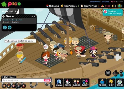 Ameba Pico World - Online Games List