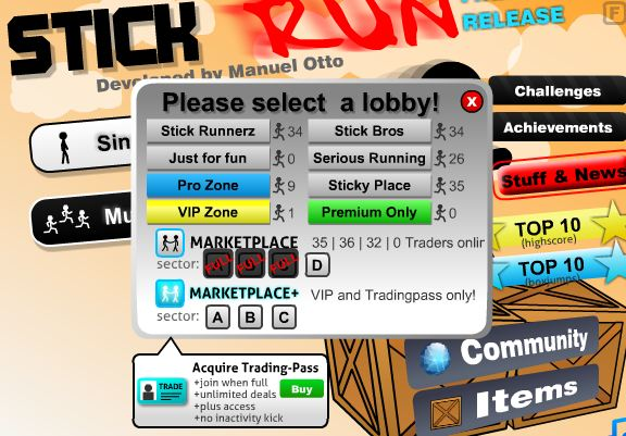 stick run free games online
