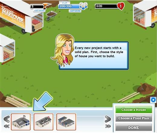 Extreme Makeover Facebook Game
