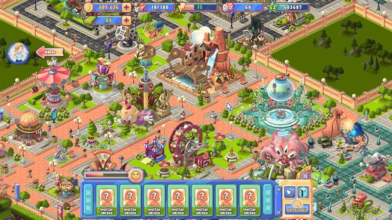 Adventure park facebook game for Amusement park decoration games