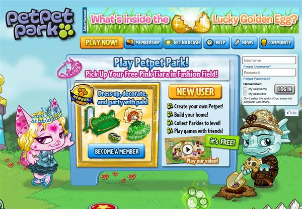Petpet Park - Free Online Game for Kids