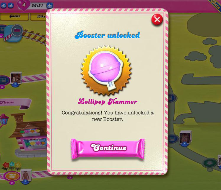 Candy Crush Saga Lollipop Hammer