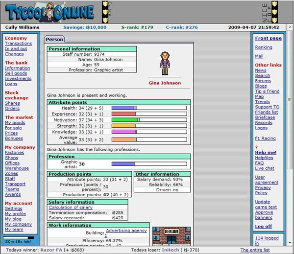 Tycoon online free business simulation game for Business simulator